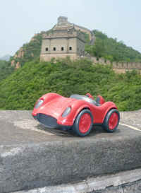 Green Toys car at Great Wall