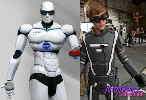 Tosy-robot-and-Justin-Bieber
