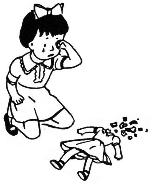 Girl-crying-broken-doll