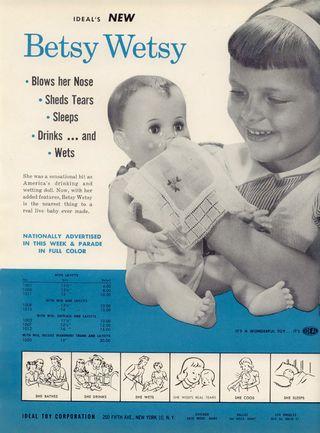 1954 IDEAL BETSY WETSY DOLL