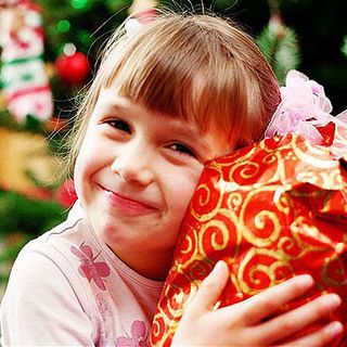 Child gift happy
