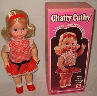 Chatty Cathy Doll and Box Mattel 1969