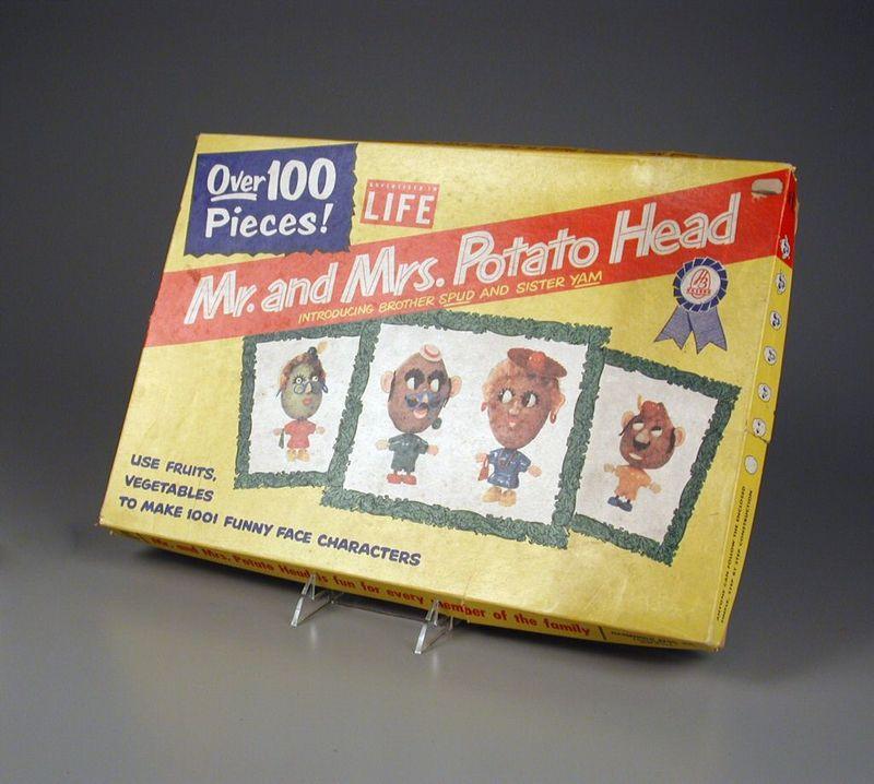 Mr. and Mrs. Potato Head Play Set, 1950s, Hasbro, Courtesy of The Strong, Rochester, NY