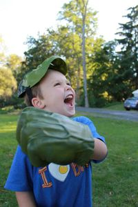 Tadd as Hulk. Photograph courtesy of Beth Lathrop.