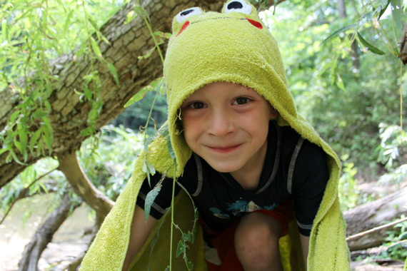 Jack as a Frog. Photograph courtesy of Beth Lathrop.