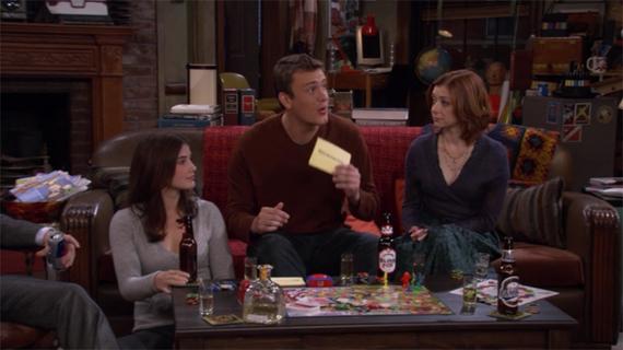Marshgammon. How I Met Your Mother. CBS.