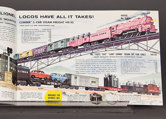 Lionel 1958 trade catalogue from The Stephen and Diane Olin Toy Catalog Collection, courtesy of The Strong, Rochester, New York.
