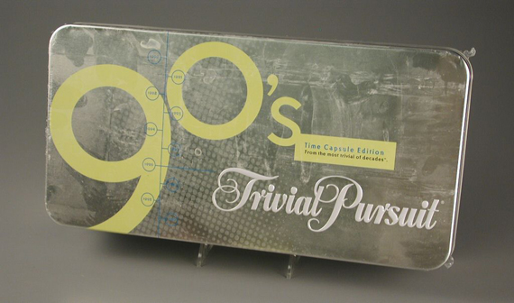 Trivial Pursuit '90s Time Capsule Edition, about 2005, gift of Donald Strand, courtesy of The Strong, Rochester, New York.