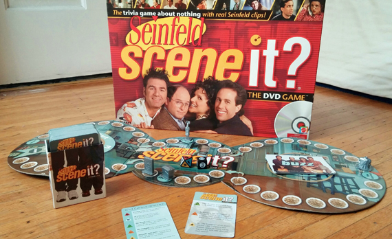 Photograph of Seinfeld Scene-It, 2008, courtesy of Julia Rossi.