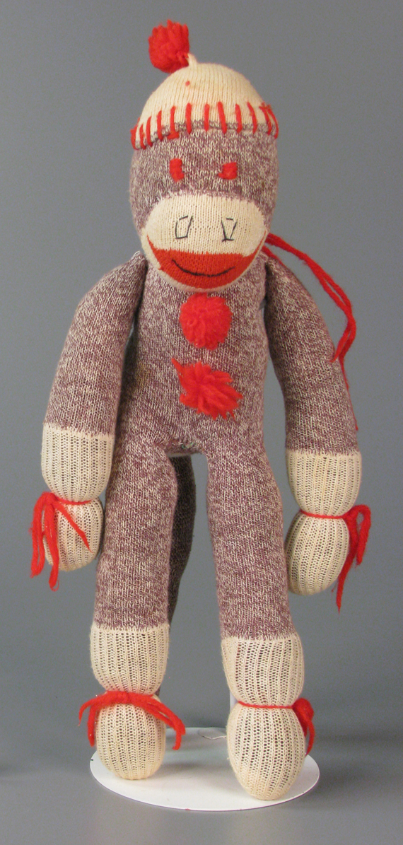 Sock monkey, Gift of Amy M. Zaremski, courtesy of The Strong, Rochester, New York.