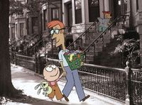 Trixie and her father set off on an adventure in Knuffle Bunny.