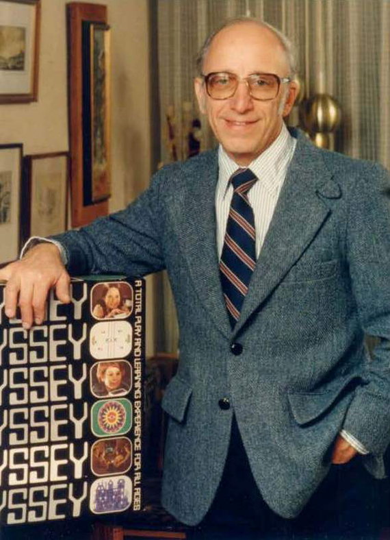 Ralph H. Baer with Magnavox Odyssey, undated, courtesy of The Strong, Rochester, New York.