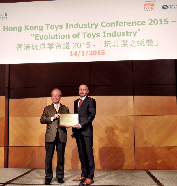 Utku Awarded with Plaque at the Conference by HKTDG and HKTC