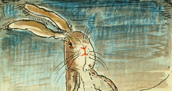 Detail from William Nicholson's illustration for Margery Williams's The Velveteen Rabbit, 1922.