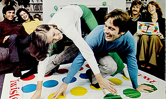 Twister, game (detail), Milton Bradley Company, 1974, Courtesy of The Strong, Rochester, New York