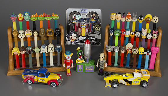 Small grouping of PEZ objects, The Strong, Rochester, New York