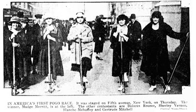 Evening Public Ledger - Philadelphia December 3 1921 night extra page 24 - first pogo race