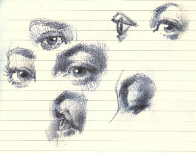 SAPULICH_PEN SKETCH EYES
