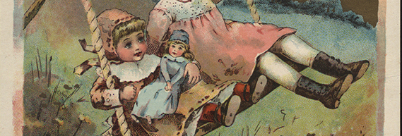 A 19th-century trade card (detail). The Strong, Rochester, New York.