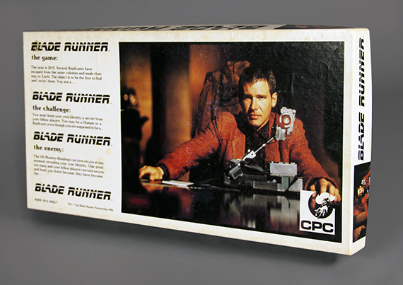 Blade Runner board game, 1982, gift of Donald Lyon. The Strong, Rochester, New York.