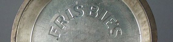 Pie pan (detail)  Frisbie Pie Company  The Strong  Rochester  New York.