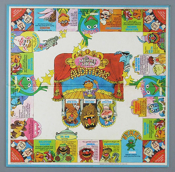The Muppet Show Board Game of the Stars  Parker Brothers  1979. The Strong  Rochester  New York.