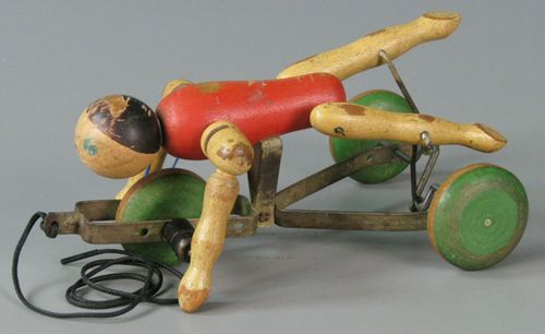 The Toy Tinkers offered colorful pull toys like this Lifeguard whose arms and legs churned as the figure moved forward. Gift of Anne Heuer Lewis. Courtesy of The Strong, Rochester, New York.