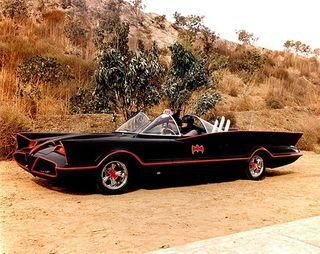 Batmobile photograph, about 1967. The Strong, Rochester, New York.