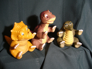 Land Before Time dinosaur puppets. Photo courtesy of Flickr user kafka4prez through Creative Commons License CC BY-SA 2.0.