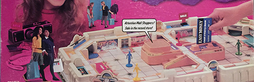 Electronic Mall Madness board game (detail), Milton Bradley Company, 1989, The Strong, Rochester, New York