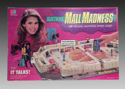 Electronic Mall Madness board game, Milton Bradley Company, 1989, The Strong, Rochester, New York