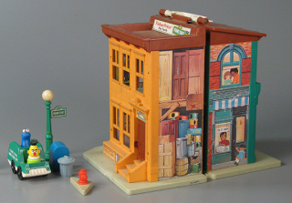 In 1975 Fisher-Price teamed up with the creators of the television series Sesame Street to make a Little People play set for the widely popular show. The Strong, Rochester, New York