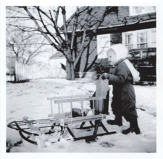 Wendy in the Snow  photograph1954. Gift of William Tribelhorn  Rochester  New York