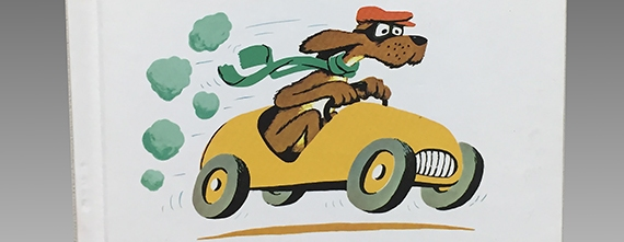 Go  Dog. Go! book by P.D. Eastman (detail)  The Strong  Rochester  New York