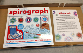 Spirograph set  2017  gift of Kahootz  LLC. The Strong  Rochester  New York.