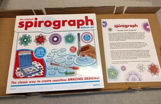 Spirograph set  2017  gift of Kahootz  LLC. The Strong  Rochester  New York.