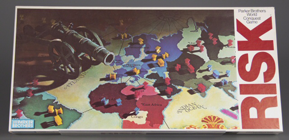 Risk, Parker Brothers, 1980, gift of Andrew Cosman and Mary Valentine, courtesy of The Strong, Rochester, New York.