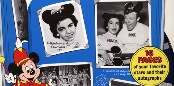 Detail, record album, Walt Disney's Mickey Mouse Club Song Hits, Disneyland Records, courtesy of The Strong, Rochester, New York.