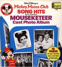 Record album, Walt Disney's Mickey Mouse Club Song Hits, Disneyland Records, courtesy of The Strong, Rochester, New York.