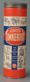 A Tinkertoy set from the early 1940s. Gift of Anne Heuer Lewis. Courtesy of The Strong, Rochester, New York.