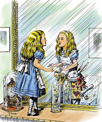 Alice_looking_glass