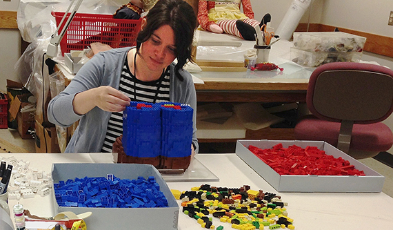 Building LEGO Mario, The Strong, Rochester, New York
