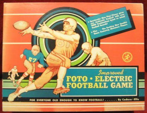 TEMPLATE cadaco foto football box 1958 VG faded