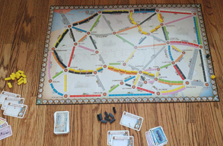 Alan R. Moon's Ticket to Ride United Kingdom Pennsylvania expansion pack  Days of Wonder  2015. Courtesy of Julia Novakovic.