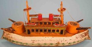 Schieble-tin-toy-hill-climber-battleship
