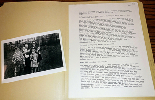 Photograph of Doris Garland Adamec and friends with their dolls (c. late 1930s) and oral history transcript of interview with Paula Garland and Doris Adamec  1987. Doll Oral History Project  1986-1989. The Strong  Rochester  New York.