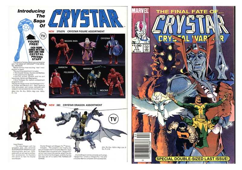 Saga of Crystar Crystal Warrior  February 1985 and REMCO  1983 Catalog. The Strong  Rochester  New York  USA.