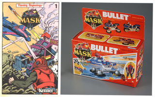 Kenner  MASK  Flaming Beginnings 1985 and Kenner  MASK Mobile Armored Strike Kommand  Ali Bombay  1986. The Strong  Rochester  New York  USA.
