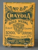 No 8 Crayola School Crayons  Binney and Smith  about 1905  The Strong  Rochester  New York.
