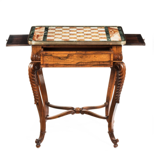 Regency-rosewood-chess-table